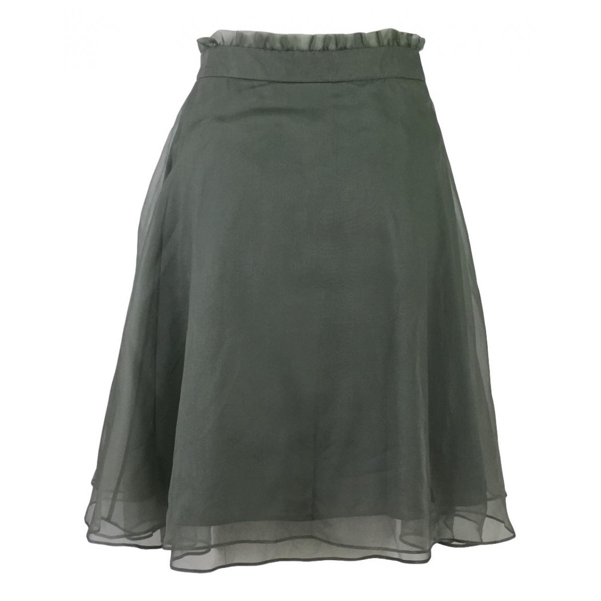 Armani Collezioni - Jupe   pour femme en soie - vert