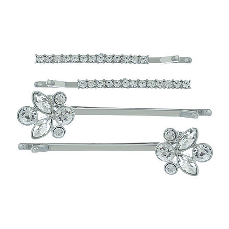Monet Jewelry 4-pc. Bobby Pin, One Size , White