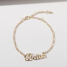 Letter Decor Chain Bracelet