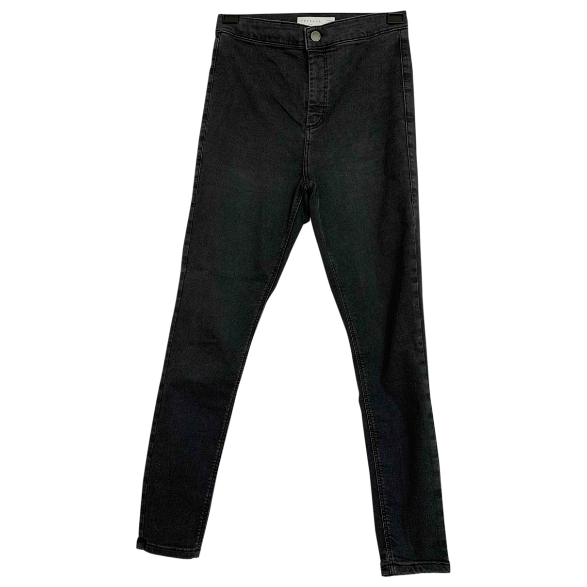 tophop \N Anthracite Cotton Jeans for Women 40 FR