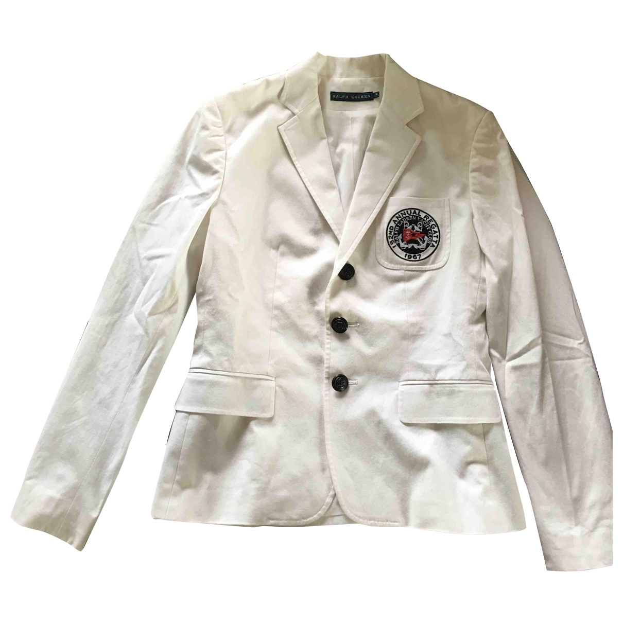 Ralph Lauren \N White Cotton jacket for Women 36 FR