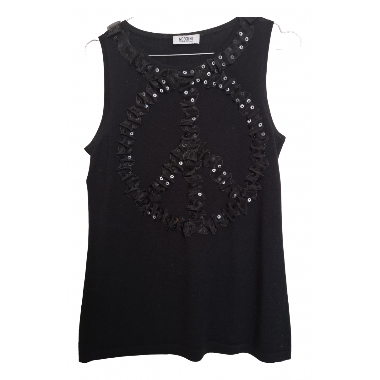 Moschino Cheap And Chic - Pull   pour femme en laine - noir