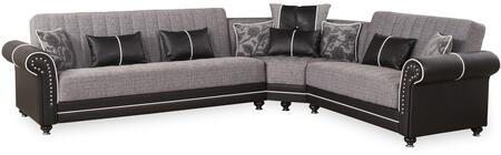 Royal Home Collection ROYAL HOME SECTIONAL QUANTRO GRAY 125