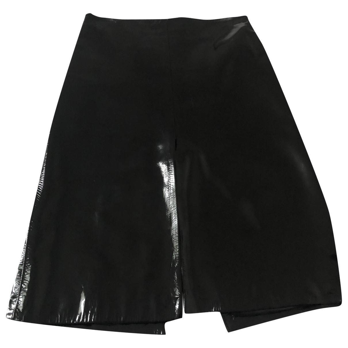 Nicole Farhi \N Black Leather skirt for Women 38 IT