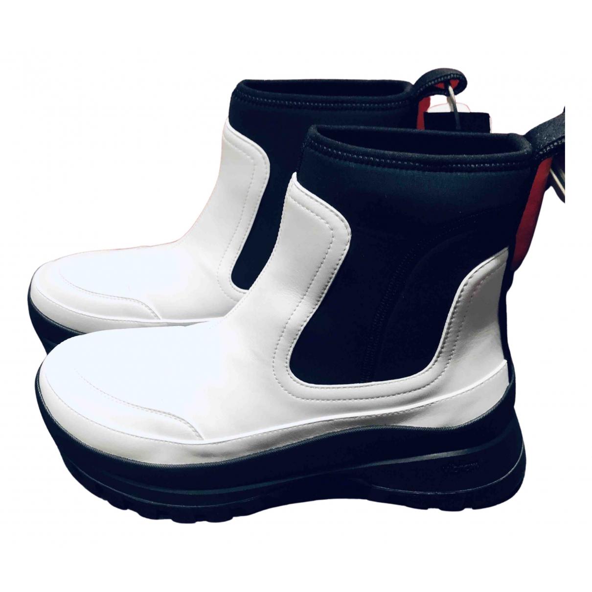 Stella Mccartney - Boots   pour femme en toile - blanc