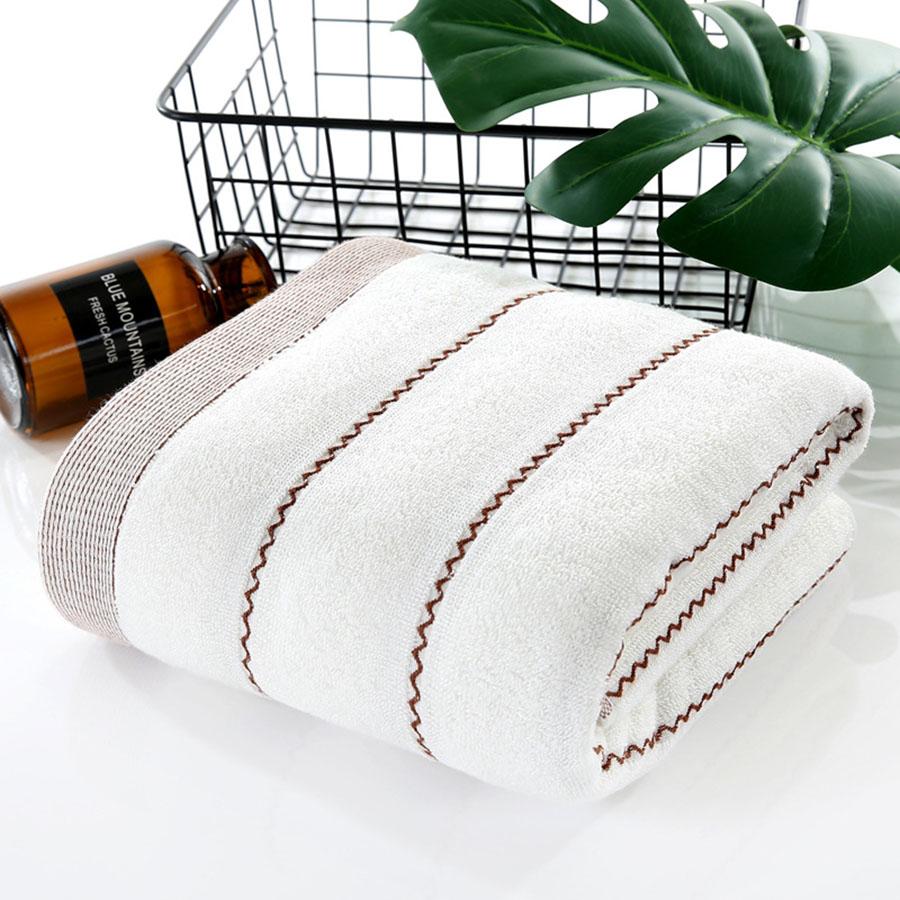 Quick-Dry Rectangular Korean Style Color Block Bath Towel