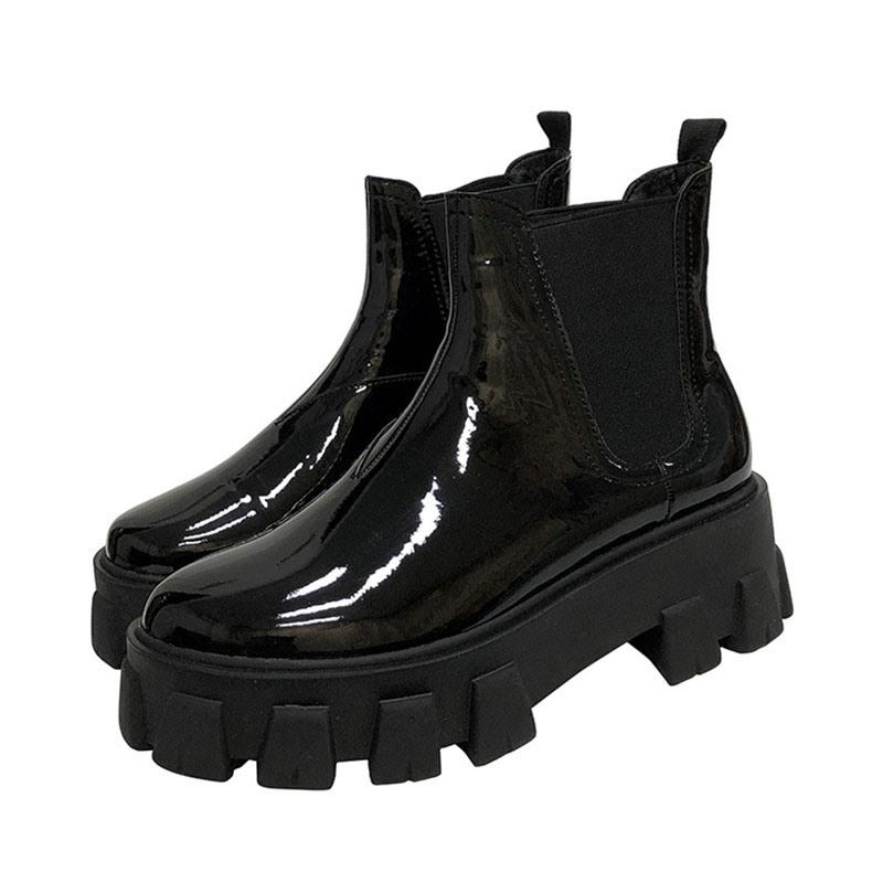 Ericdress Slip-On Plain Round Toe Martin Boots