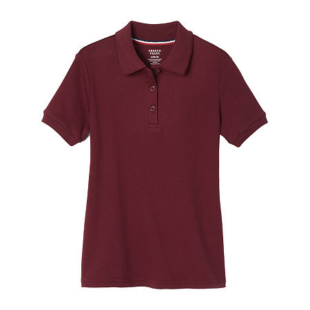 French Toast Girls Plus Short Sleeve Stretch Polo Shirt, 14-16 Plus , Red