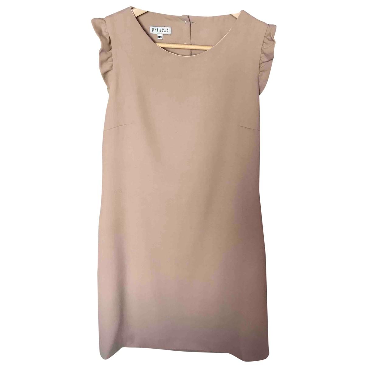 Claudie Pierlot \N Beige Wool dress for Women 36 FR