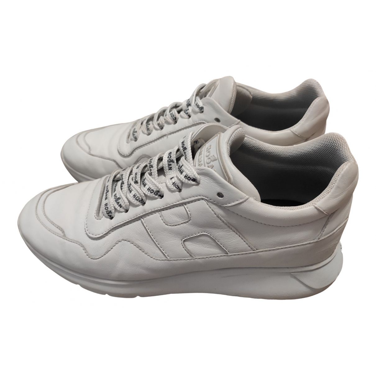 Hogan N White Leather Trainers for Men 6 UK