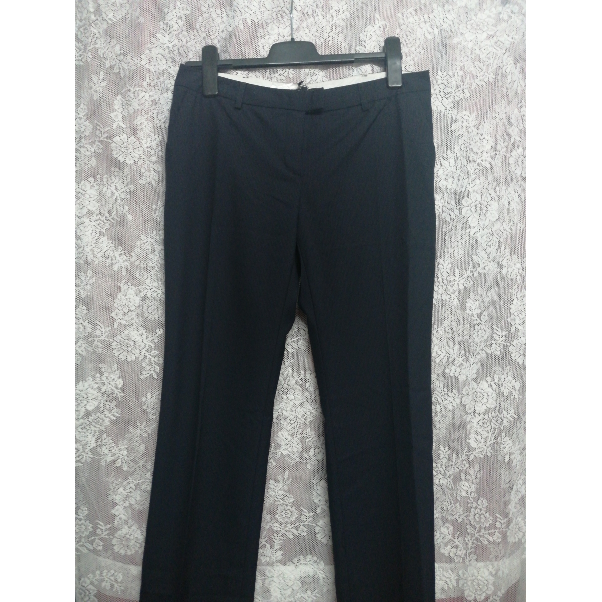 Tara Jarmon \N Navy Wool Trousers for Women 40 FR