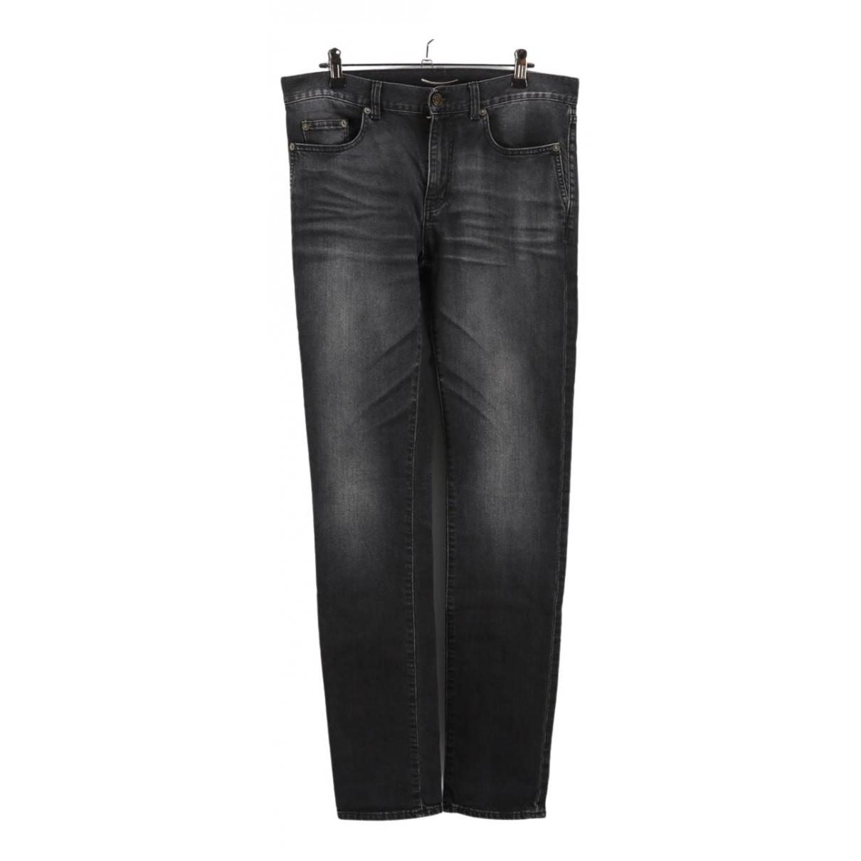 Saint Laurent \N Black Cotton Jeans for Men 29 US