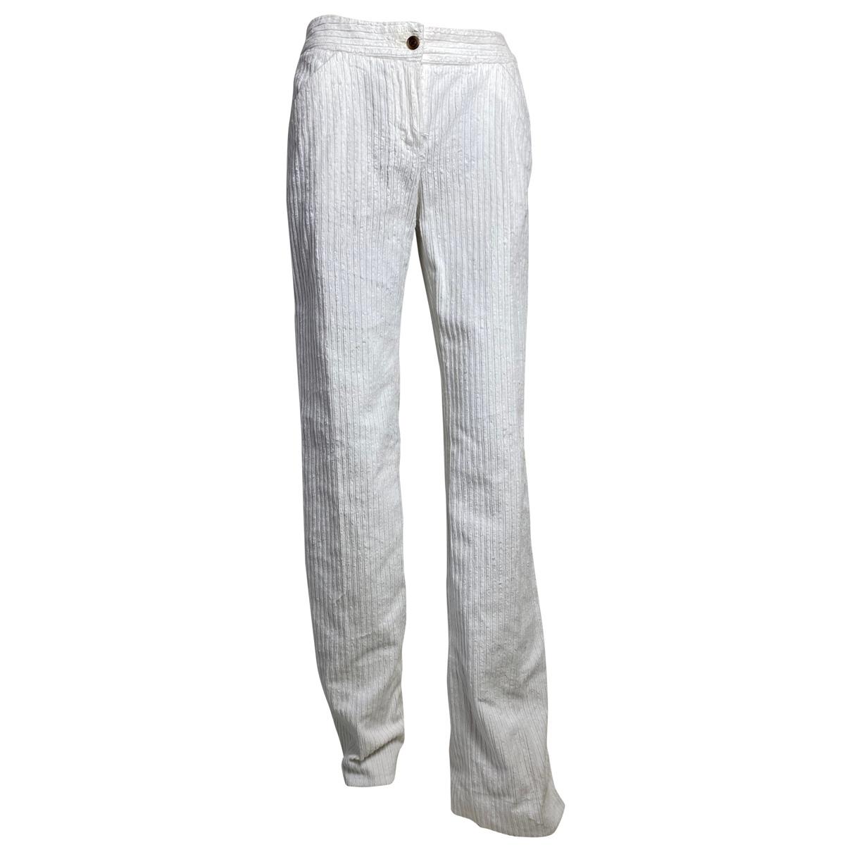 Dolce & Gabbana \N White Cotton Trousers for Women 40 IT