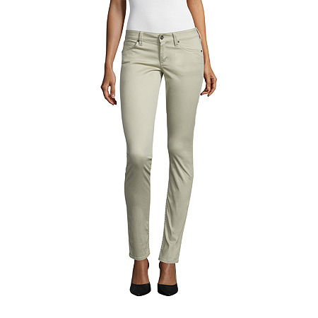 Arizona Womens High Rise Skinny Pull-On Pants, 9 , Brown