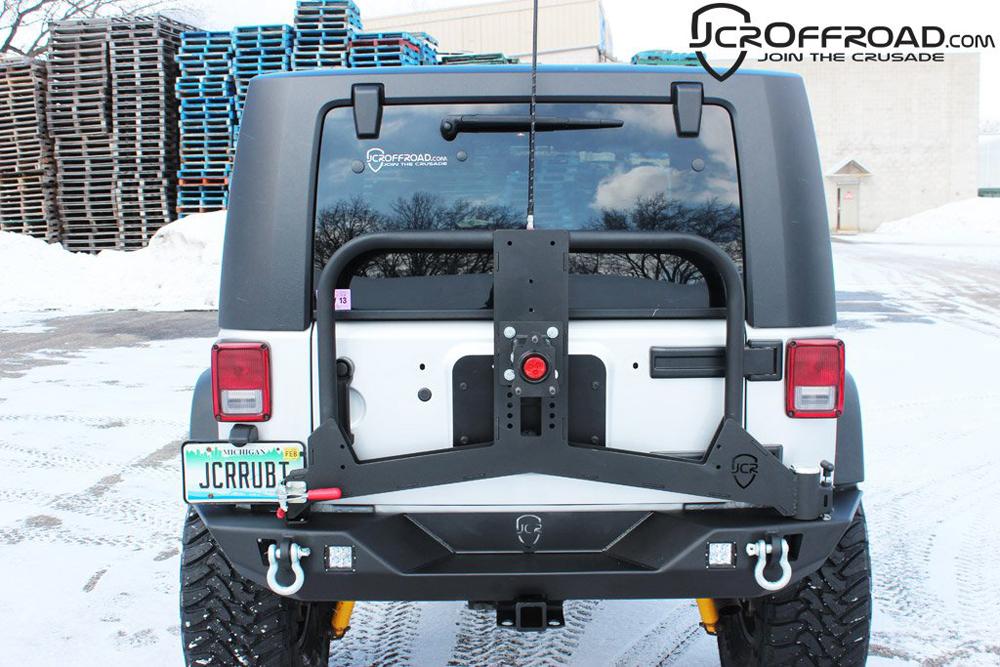 JK & Unlimited Tire Carrier Adventure 07-18 Bare JCR Offroad JKAC-Bare