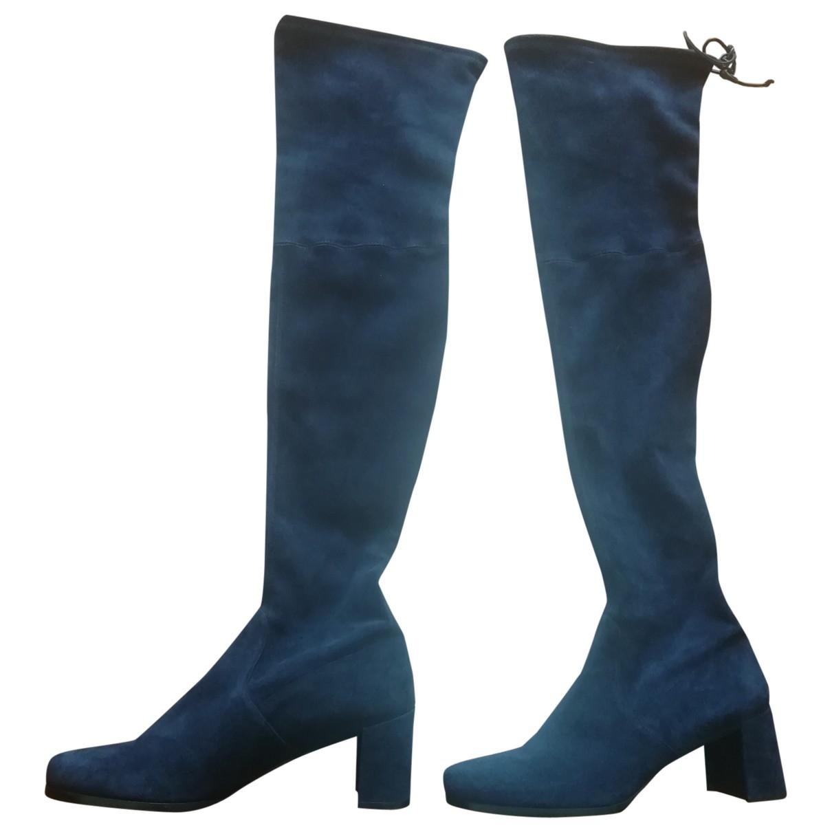 Stuart Weitzman \N Blue Suede Boots for Women 40 EU