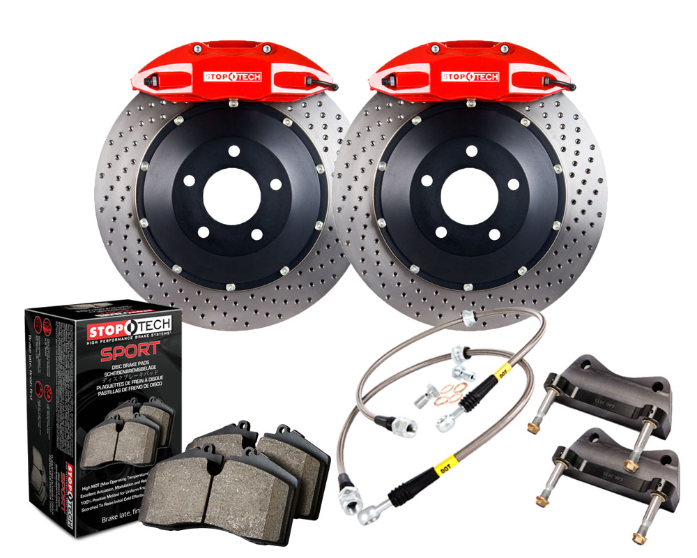 StopTech 83.192.0057.72 Big Brake Kit; Black Caliper; Drilled Two-Piece Rotor; Rear Chevrolet Camaro Rear 2010-2015 3.6L V6