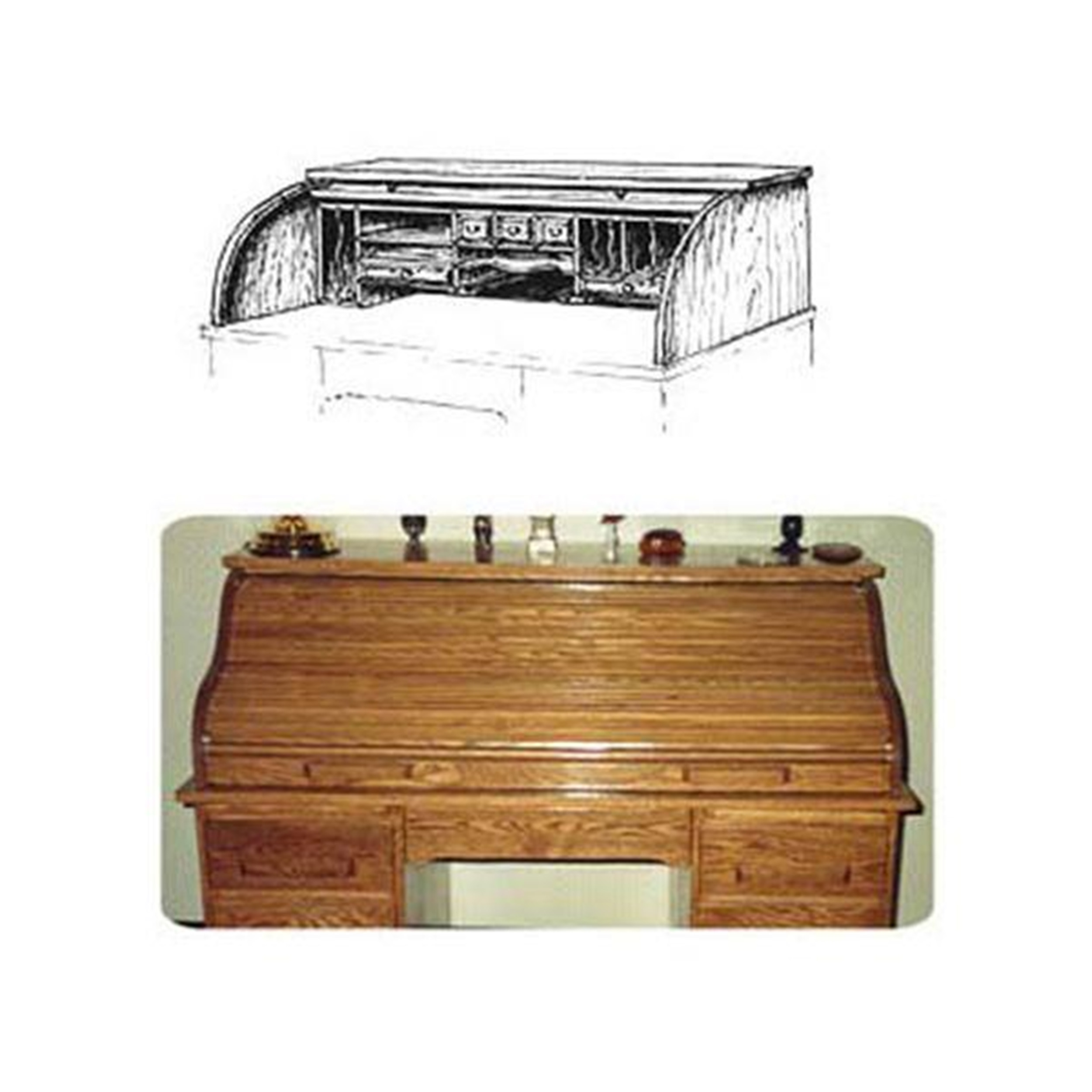 Woodworking Project Paper Plan to Build Roll Top Tambor (Upper Portion)