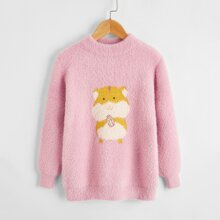 Pullover mit Karikatur Eichhornchen Muster