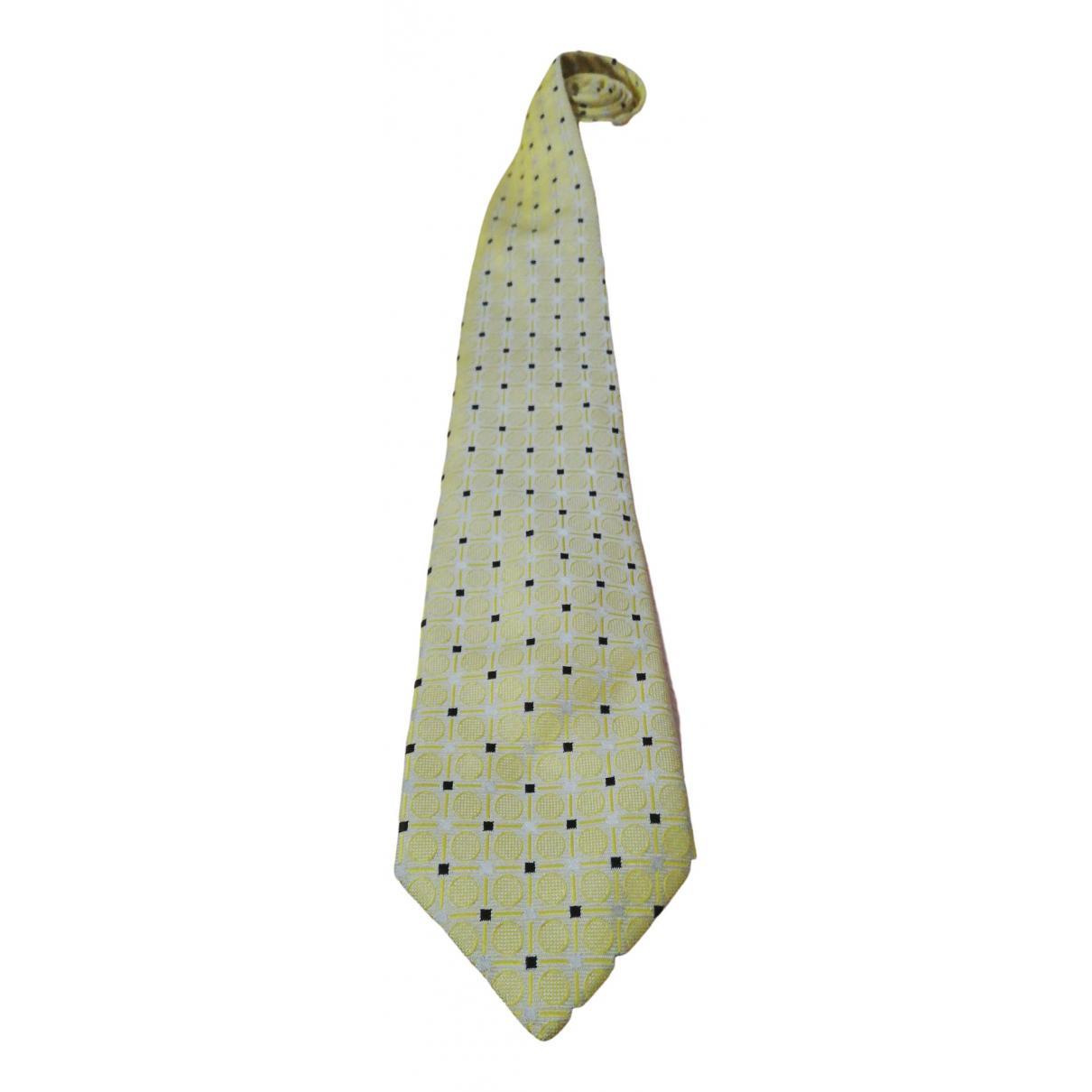 Prada - Cravates   pour homme en soie - jaune