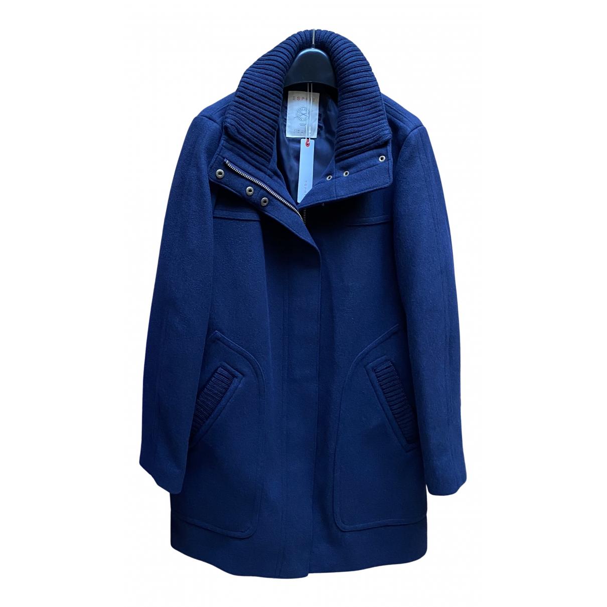 Esprit - Manteau   pour femme en laine - bleu
