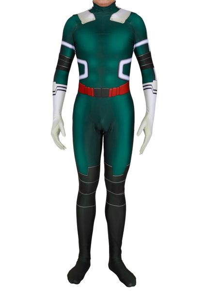 Milanoo Boku No Hero Academia Deku Cosplay Izuku Midoriya Jumpsuit Cosplay Costumes