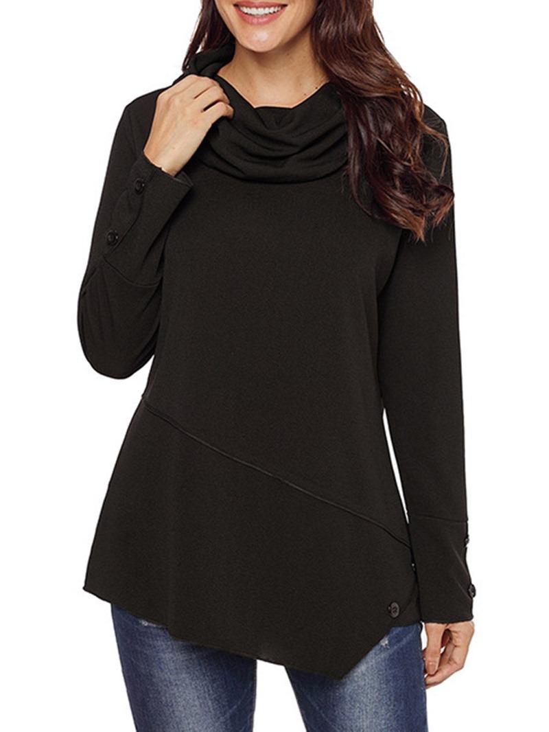 Ericdress Plain Regular Mid-Length Long Sleeve Hoodie