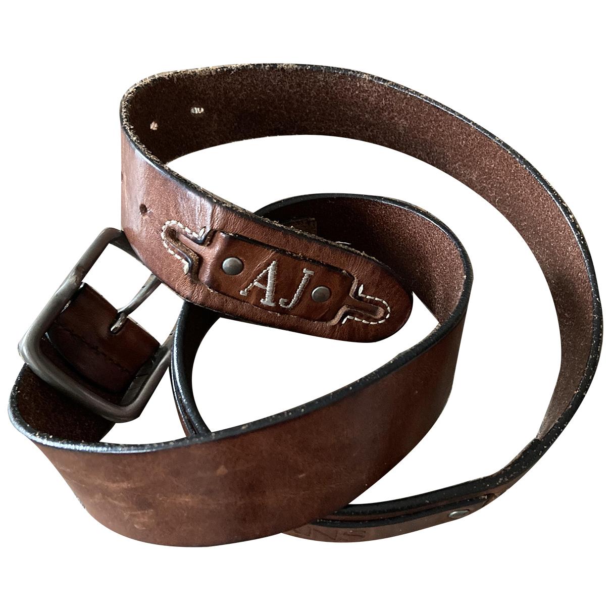 Armani Jeans \N Guertel in  Braun Leder