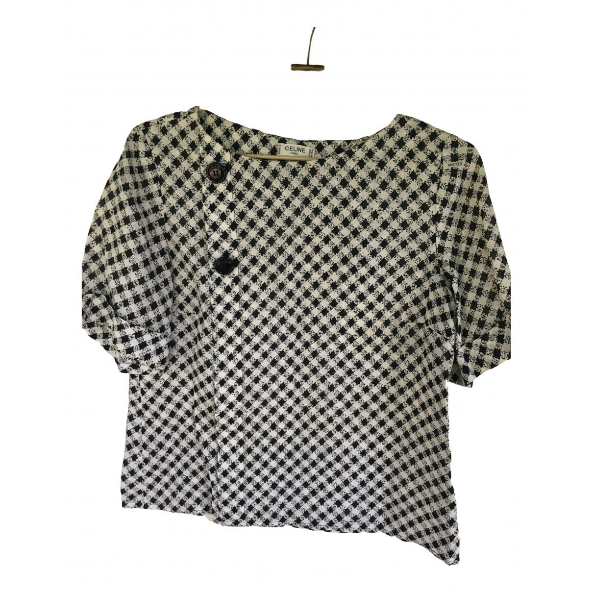 Celine \N Multicolour Linen  top for Women 44 IT