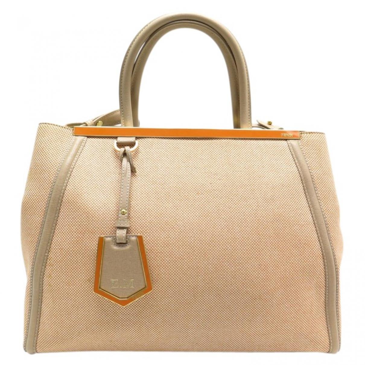 Fendi 2Jours Orange Cloth handbag for Women \N