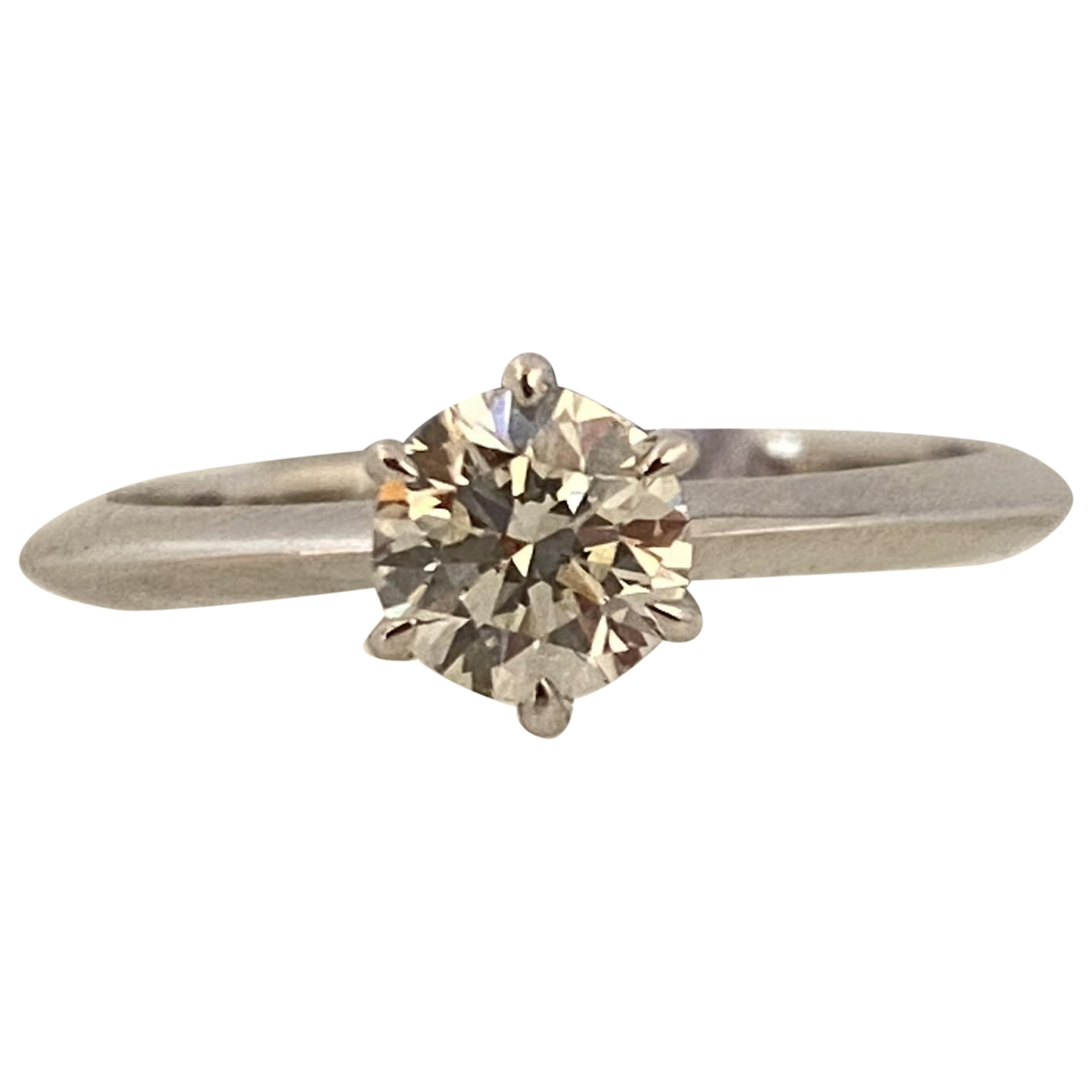 Non Signe / Unsigned Solitaire Ring in Weissgold