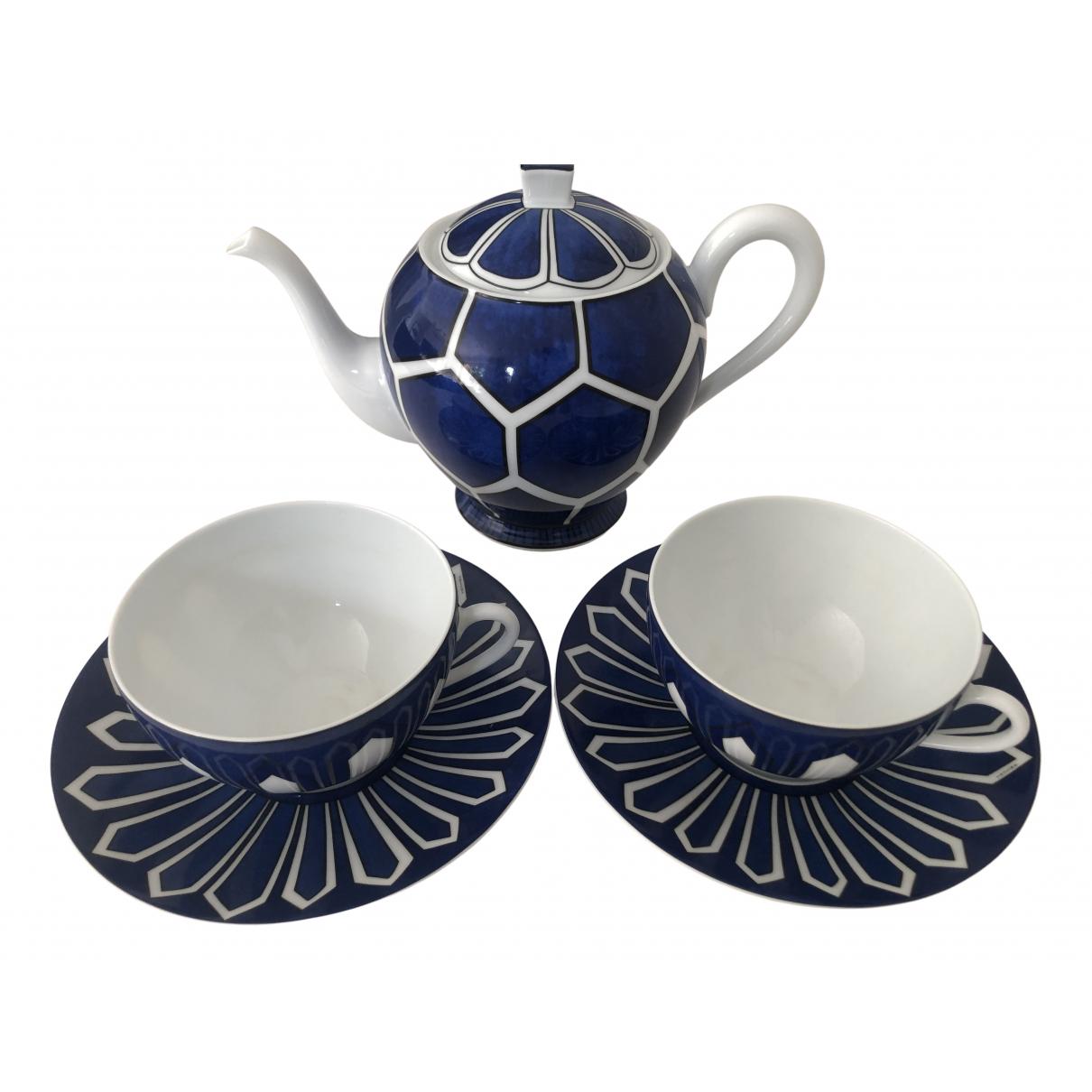 Juego de te/cafe Bleus dailleurs de Porcelana Hermes