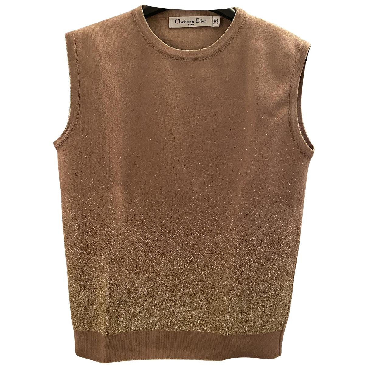 Dior - Pull   pour femme en laine - beige