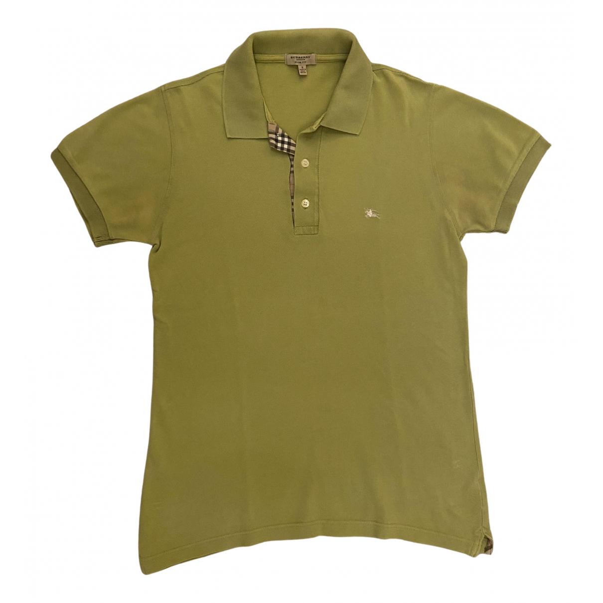Burberry \N Green Cotton Polo shirts for Men M International