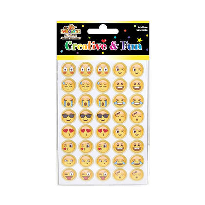 Emoji Self-Adhesive Stickers for Arts & Crafts, 4 Pack - Woody's