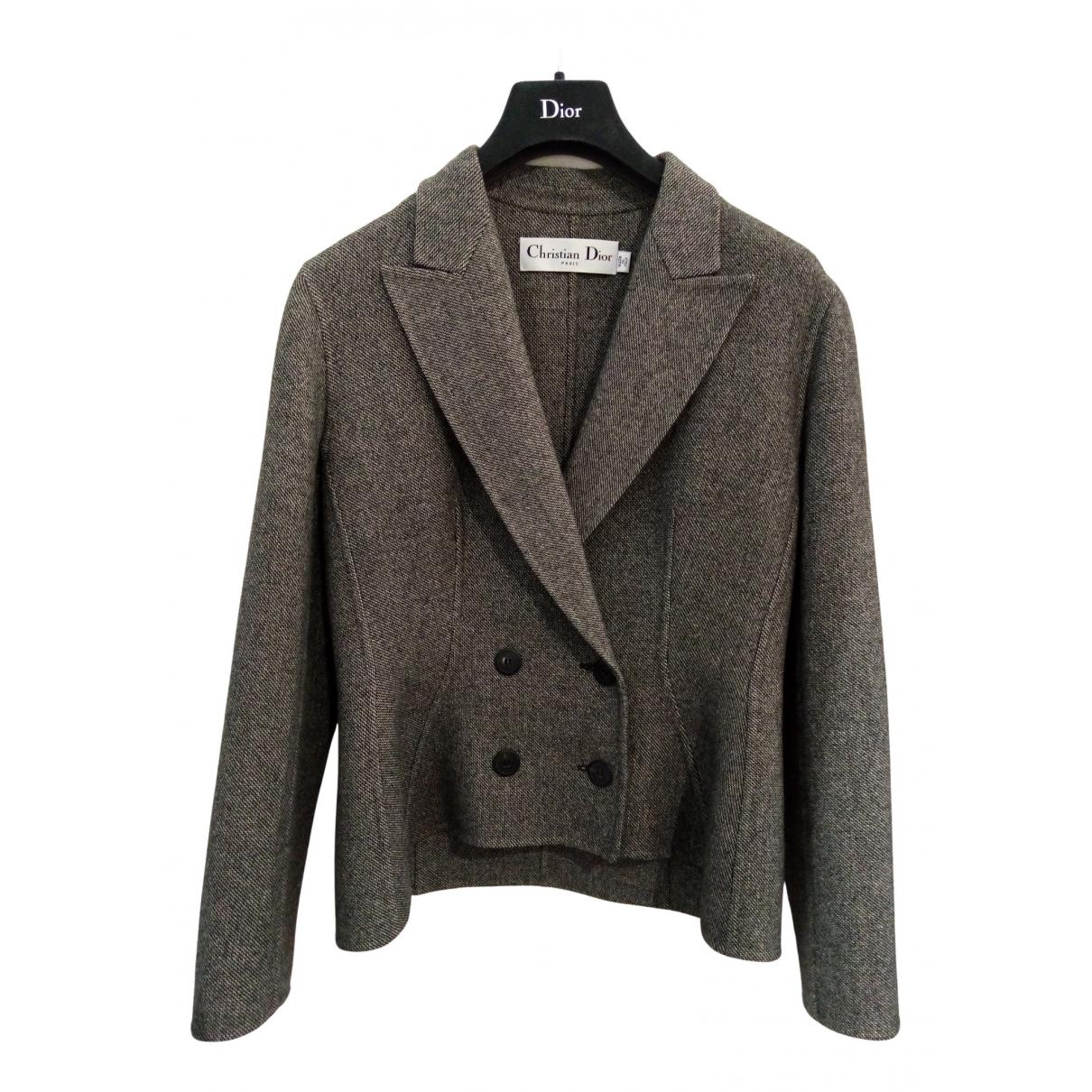 Dior \N Grey Wool jacket for Women 40 FR