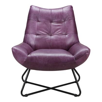 Graduate Collection PK-1063-10 Lounge Chair with Iron Frame in Purple
