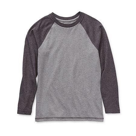 Arizona Little & Big Boys Long Sleeve T-Shirt, Xx-small (4-5) , Gray