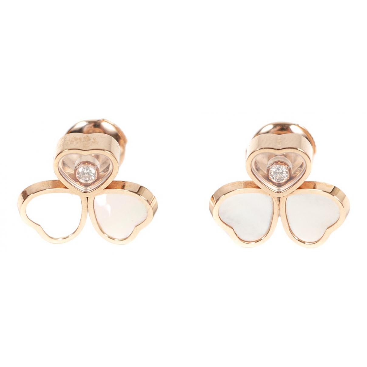 Chopard - Boucles doreilles Happy Hearts pour femme en or rose - rose