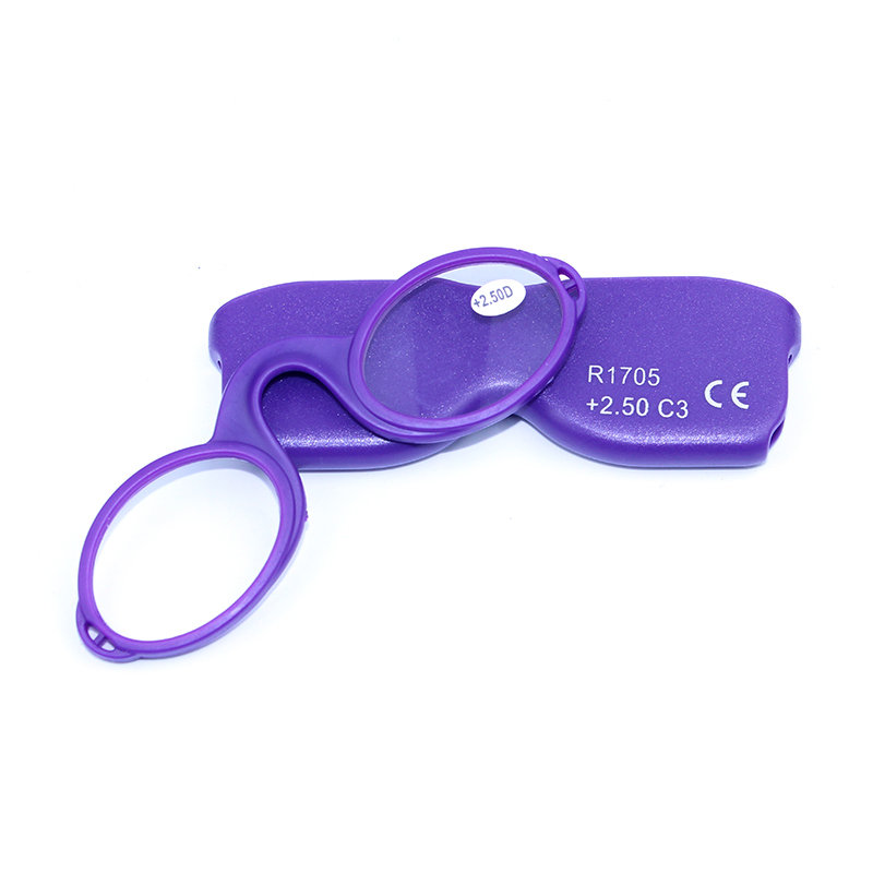 Mens Women Reading Glasses Silicone Nose Clip Optical Glasses Presbyopic Glasses With Case Lanyard