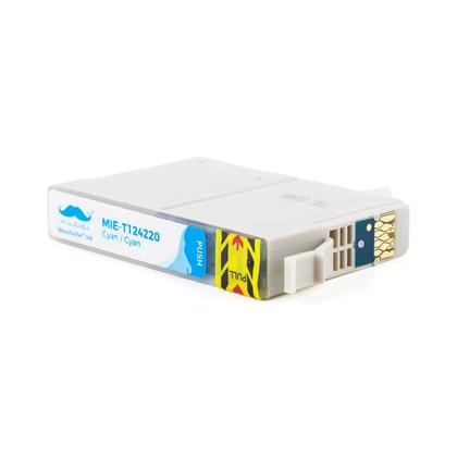 Epson 124 T124220 cartouche d'encre compatible cyan - Moustache�