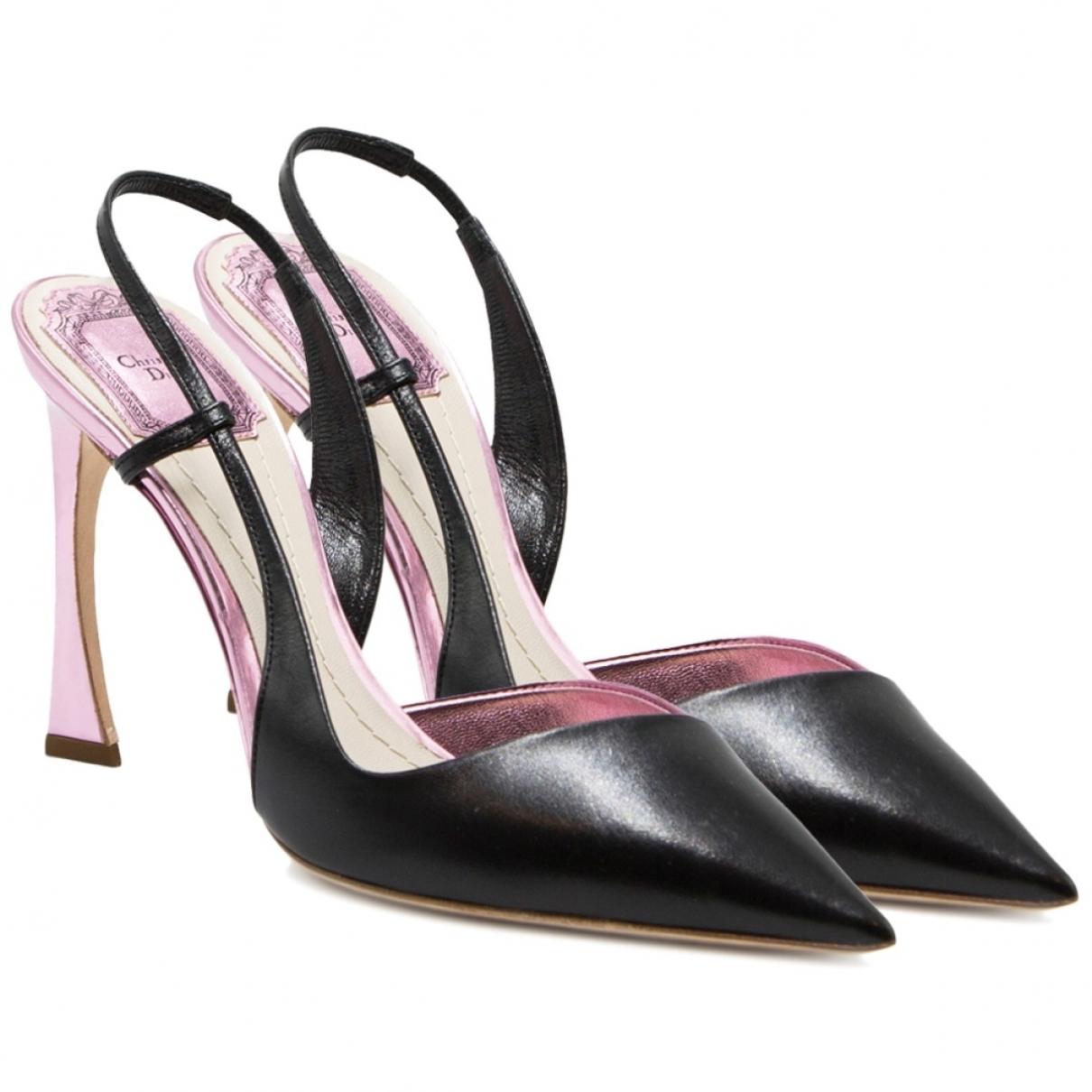 Dior \N Black Leather Sandals for Women 37.5 EU