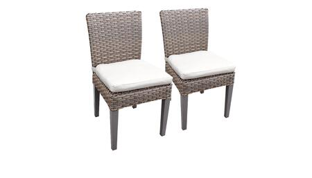 Monterey Collection MONTEREY-TKC290b-ADC-C-WHITE 2 Side Chairs - Beige and Sail White