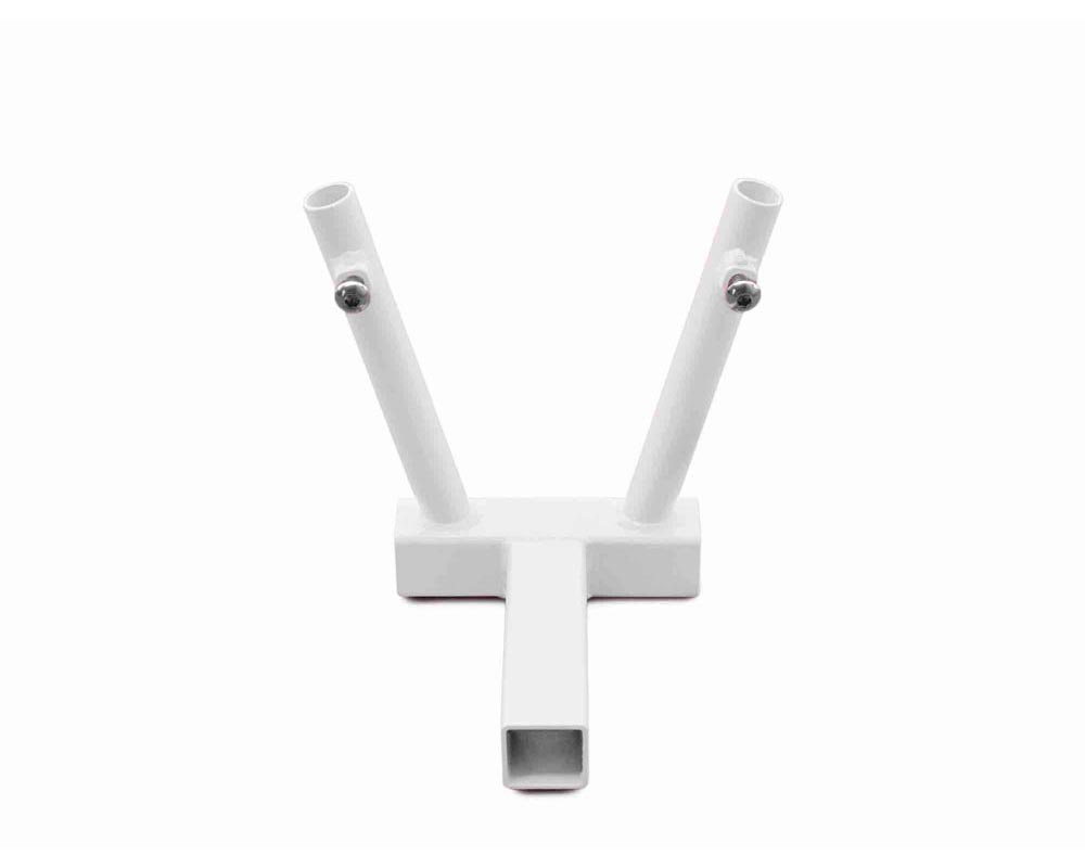 Steinjager J0045357 Hitch Mount Flag Holder 2 Flags Cloud White