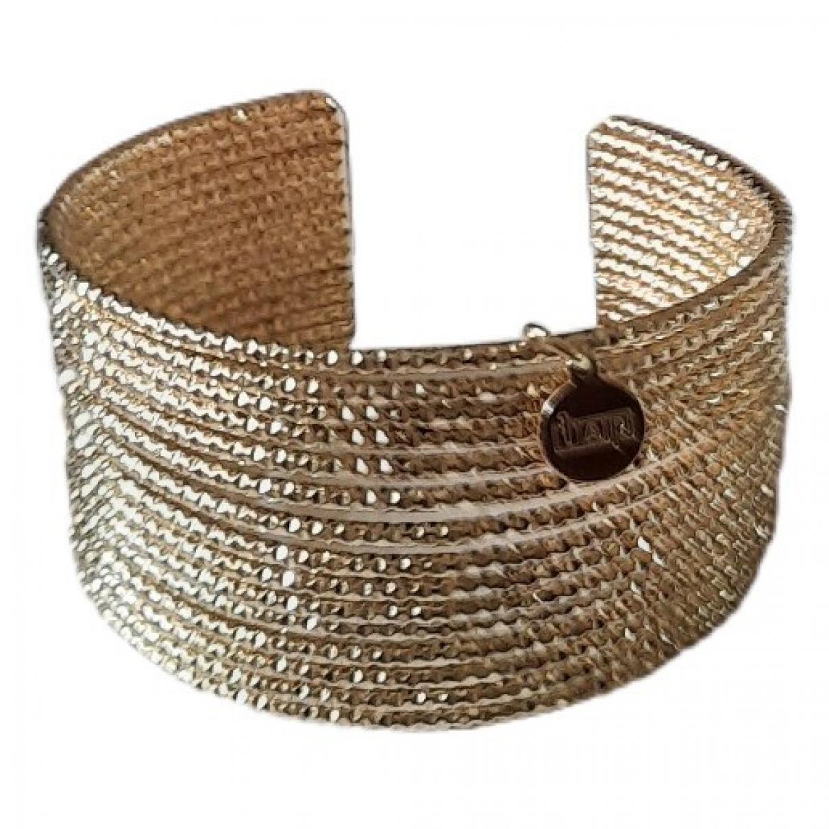 - Bracelet Manchette pour femme en plaque or - dore