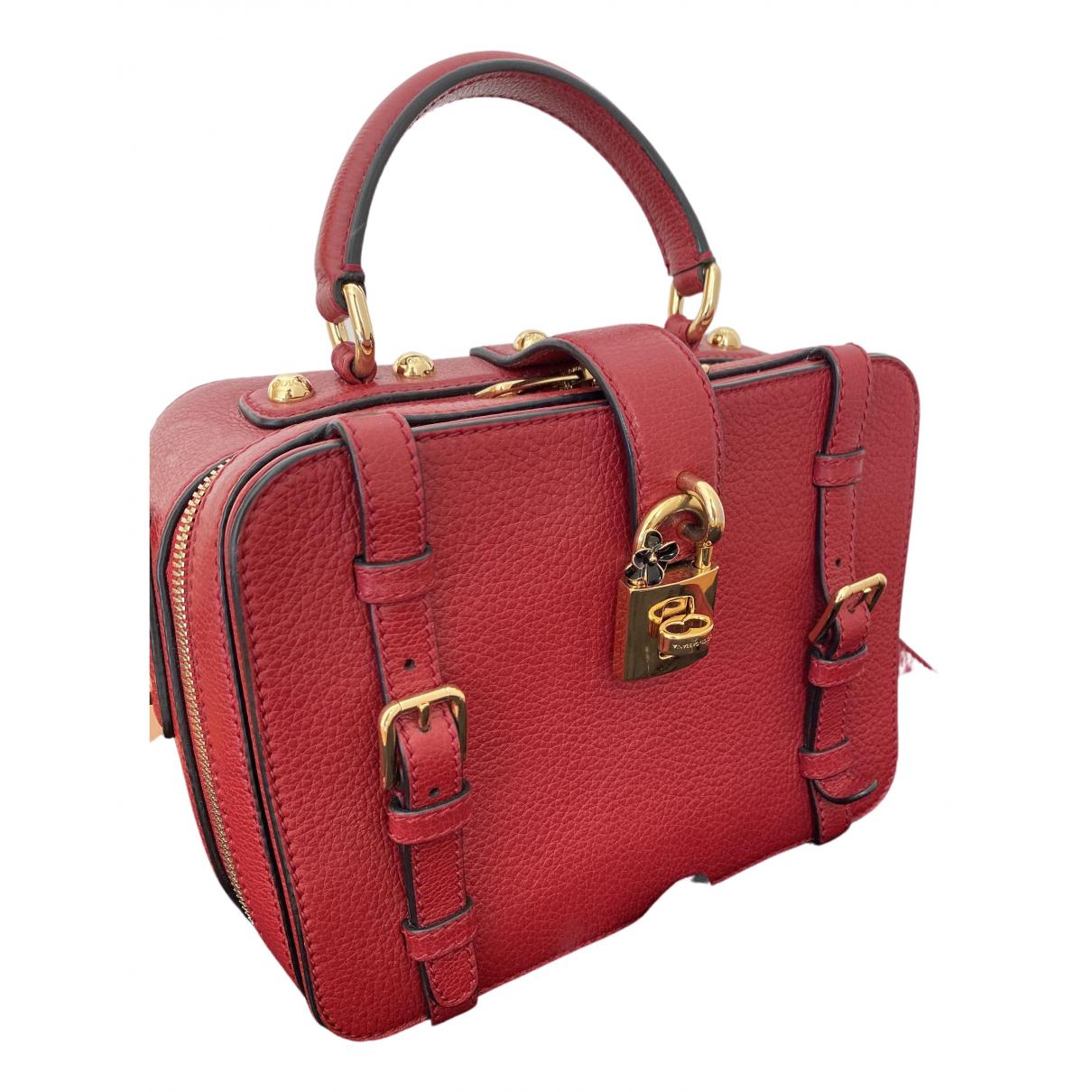 Dolce & Gabbana - Pochette   pour femme en cuir - rouge