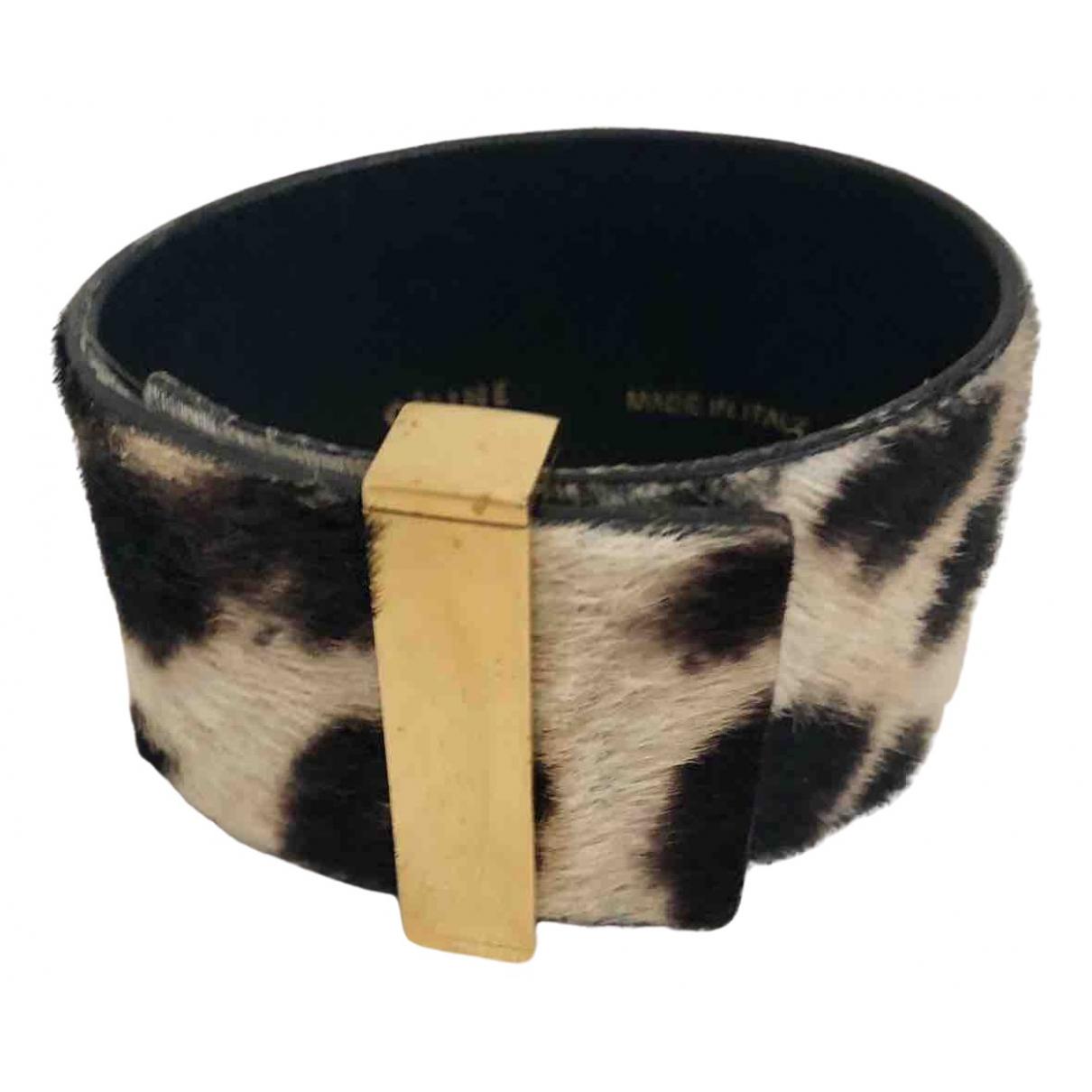 Celine - Bracelet   pour femme en cuir - dore