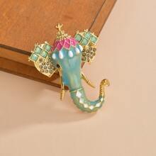 Elephant Design Brooch