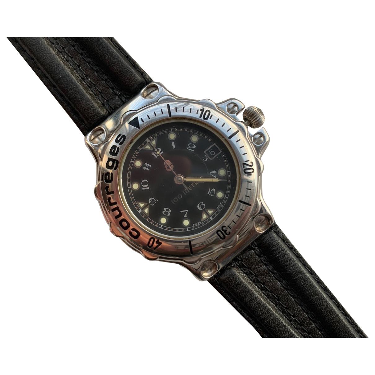 Courreges \N Uhr in  Schwarz Stahl