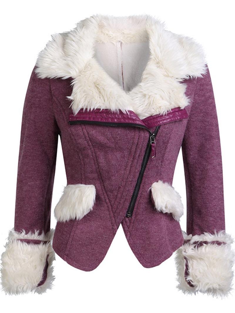 Ericdress Zipper Patchwork Short Casual Long Sleeves Coats